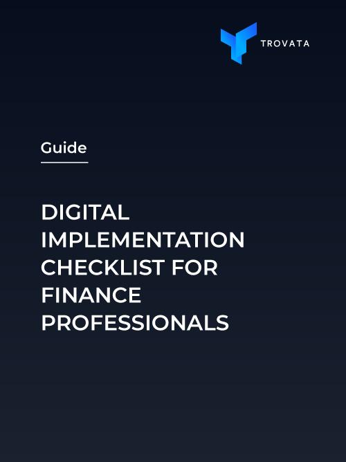 Digital Implementation Checklist Finance Professionals